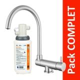 Robinet 3 voies Arches Nickel Brossé + Kit de filtration QCF-3001/321 - PROMO