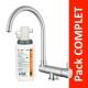 Robinet 3 voies rabattable Arches Nickel Brossé + Kit de filtration QCF-3001/321 - PROMO