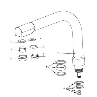 Canne complète robinet Denali - Nickel Brossé