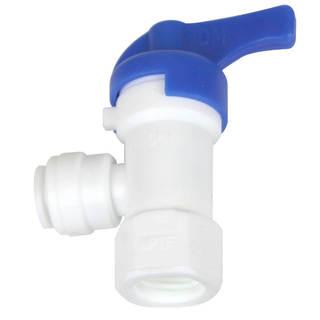 Vanne fermeture 1/4'' - 1/4'' pour réservoir osmoseur Push in
