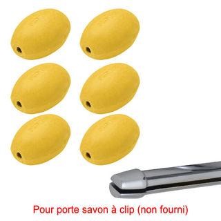 Savon jaune rotatif Provendi (lot de 6) - Recharge à clip