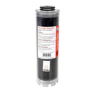 Conteneur de charbon actif végétal 10'' BX - Compatible LA 10 BX - Crystal Filter® CO-8-BX-GAC01