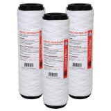 """Cartouche SWGC-05-934-PP double action - sédiment 5µm + Charbon Actif - 9""""3/4 - Crystal Filter® (lot de 3)"""