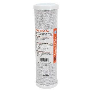 Cartouche CBC-05-934 Premium charbon actif 9''3/4 - 5 µm - Crystal Filter®
