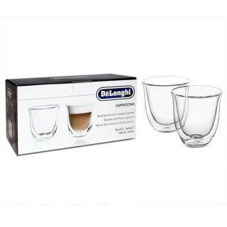 Tasse Cappuccino Delonghi en verre (lot de 2)