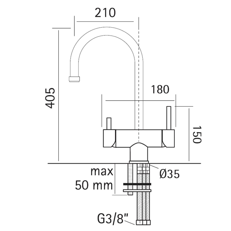 Dimension robinet Anemone