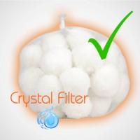 Utilisation et nettoyage des balles de filtration Crystal Filter®.