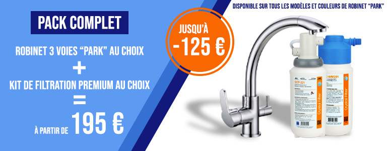 Le kit de filtration à 40€ en achetant le robinet simultanément.